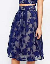 Coast Trellis Mesh Lace Floral Embroidered Midi Skirt  10 38