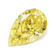 Yellow Diamond 0.50 Carat Certified Fancy Intense Yellow Loose Natural Color