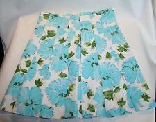 Blue Floral United color of Benetton Pleated Front skirt size EU 38 Resort