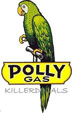 "12"" POLLY GASOLINE DECAL GAS AND OIL FOR GAS PUMP, SIGN, WALL ART STICKER"