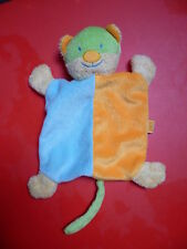 Doudou KIMBALOO KMB la halle chat plat orange bleu vert