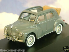 1/43 DIECAST 1953 RENAULT 4CV BERLINE TYPE R1063 OPEN CONVERTABLE/CABRIO IN GREY