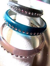 3 Crystal Bangle Bracelets