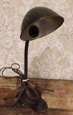 Vintage S. Robert Schwartz Cast Iron Gooseneck desk light lamp Art Nouveau Deco