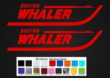 "Boston Whaler Boats Decal Set Stickers 11"" Fishing Baitcaster Swim Bait Outboard"