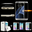For Samsung Galaxy S6/S7 Edge/+ Full Cover Tempered Glass Screen Protector+ Case