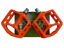 "New Wellgo MG-1 BMX Bicycle Bike Magnesium Pedals 9/16"" Orange"