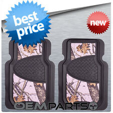 2X PINK MOSSY OAK FRONT FLOOR MATS CAMOUFLAGE CAMO TRUCK SUV CAR PAIR SET GIRL