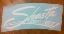 "Shasta Industries Vintage Travel Trailer decals white 15"" die cut set of 2"