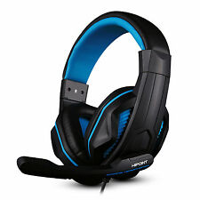 HIPOINT X2 STEREO GAMING HEADSET MIC WITH VOLUME CONTROL FOR PS4 PC BLACK & BLUE