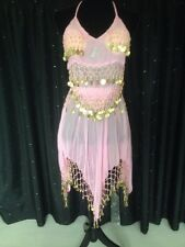 Ladies Brand New Pink Belly Dancers Costume Size Small