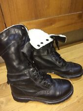 Dr Martens black shearling triumph leather boots UK 7 EU 41 mid calf