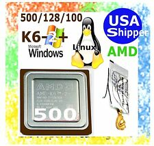 NEW K6-3 K6-2+ 500 MHz CPU 500/128/100 2.0v Socket 7/Super 7 GOLD HSinkCompound