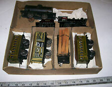 RARE Vintage BING Prewar ALL Metal O Scale Electric Train Set with Box, Germany