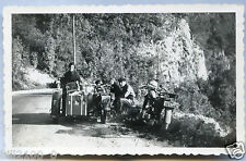 photo ancienne . moto ancienne . side-car