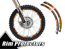 12 & 14 INCH DIRT BIKE RIM PROTECTORS WHEEL DECALS TAPE GRAPHICS MOTORCYCLE
