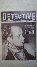 REVUE DETECTIVE N°264 PHALEMPIN HENRI  DEMON LAUBRESSEL BRELET ROQUE SUR PERNES