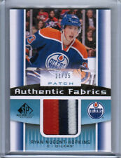 13/14 SP GAME USED RYAN NUGENT-HOPKINS AUTHENTIC FABRICS PATCH 35 EDMONTON OILER