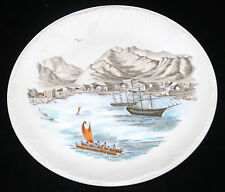 VINTAGE WEDGWOOD BONE CHINA PLATE HONOLULU HARBOR HAWAII 1854 DETOR JEWELRY
