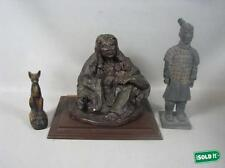 CHINESE FIGURINE OF AN ANCIENT SOLDIER - SOLIDEIR ONLY  - NOT THE OTHER TWO