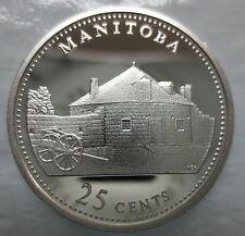 CANADA 1867-1992 ANNIVERSARY 25¢ MANITOBA SILVER PROOF QUARTER