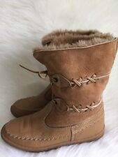 Blondo Upper fur lined Boots Mocassin Style- Camel Women's 7 - Made in Canada