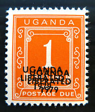 UGANDA 1979 1/- Postage Due Liberation with Double OPT U/M D6 SALE PRICE BN 991