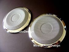 Stainless Steel Speaker Cover Net with Rim Set For 1991-1999 BMW E36 3-Series