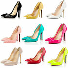 Womens Fashion Pointed Toe Stiletto High Heel Party Pumps Court Shoes UK 3-9