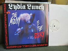 "BIRTHDAY PARTY LYDIA LUNCH THE AGONY IS ECSTACY DRUNK ON POPE'S BLOOD 4AD 12"" lp"