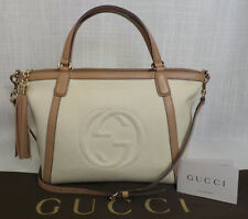 Authentic Gucci Small Canvas Soho 2 way Tote Bag 86433 w/ Cover