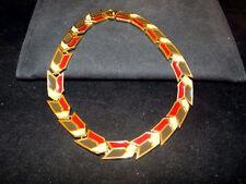 CATWALK CONNECTIONS Vintage Enamel LANVIN Paris Modernist Couture Necklace