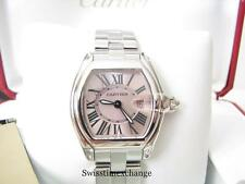 CARTIER ROADSTER LADIES,W62017V3 PINK DIAL CARTIER  EXTRA STRAP!!! EXCELLENT!