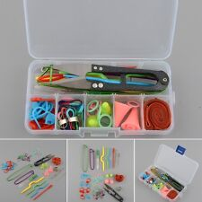 New DIY Knitting Accessories Supply Magic Weaving Knit Basic Tools Case Box Set