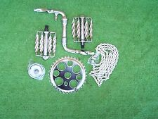 "BICYCLE CRANK SET TWISTED 5 ITEMS W/ 4"" CRANK LOWRIDER BMX OTHERS  NEW"