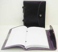 JAFRA Black Leather Journal/Diary/Notebook