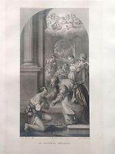 F. ROSASPINA IL FIGLIOL PRODIGO acquaforte 1830 Bologna  PONTIFICIA ACCADEMIA