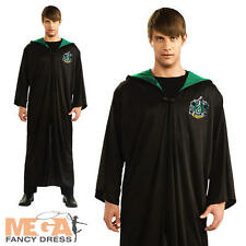 Slytherin Robe Adults Fancy Dress Harry Potter Book Week Mens Ladies Costume New