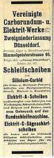 Vereinigte Carborum- u. Elektrit- Werke A.G. Düsseldorf Historische Reklame 1912