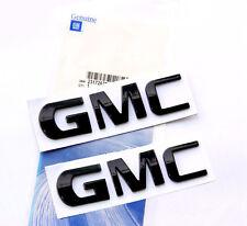 2x OEM Black GMC Nameplate EMBLEM badge for GM Chevrolet Yukon Sierra Terrain U