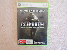 XBOX 360 CALL OF DUTY 4 MODERN WARFARE GAME OF THE YEAR EDTN V GD COND