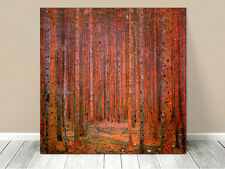 Stunning Classic Art ~ Red Forest by Gustav Klimt ~ CANVAS PRINT 12x12""