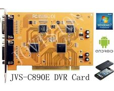 8 canali DVR CARD, CCTV Camera Recorder, PTZ, PCI, e-mail alert, Motion, CLOUD P2P