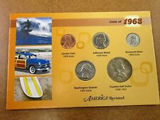 LITTLETON COIN COMPANY, AMERICA REVISITED, COINS OF 1963. IN A HOLDER.