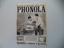 advertising Pubblicità 1961 PHONOLA TELEVISORE 23''/RADIO