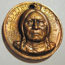 SITTING BULL COMMEMORATIVE INDIAN PEACE MEDAL 3D BUST OF SITTING BULL FEATURED