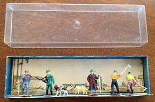 WALTER MERTEN 891 Woodsmen Dogs Gun Axes HO Scale Model RR Figures People Men