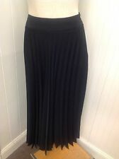Laura Henson Sz 14 Tall Black Long Pleated Skirt Career Church Winter