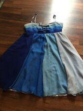 Betsey Johnson Silk Blue Dress Sz 2 Euc