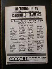 Partition Recuerdo Gitan Rubaudo Estribillo Flamenco Castillos Paso Doble